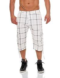 malito 3/4 Pretina-Pantalónes Shorts a Cuadros MK330 Hombre