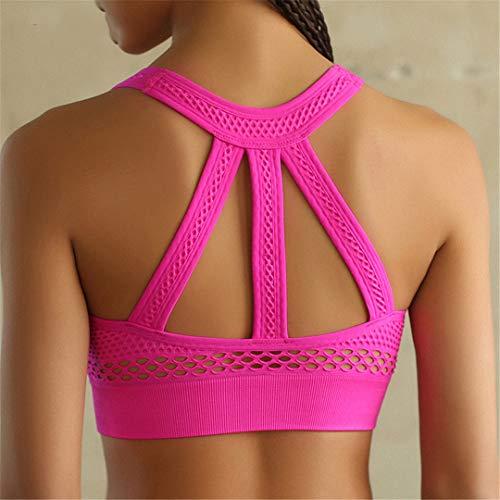 ort-BH High Impact Lauf Gepolsterte Frauen Sexy Nahtlose Büstenhalter Sport-BH Top Für Yoga Fitness Workout Active Wear Pink M ()