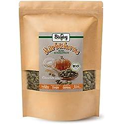 Biojoy Graines de Courges BIO décortiquées | naturelles et sans sel | pour cuisson du pain et pour casse-croûte | Graines de Citrouilles BIO pour mélanges de salades et desserts (1 kg)