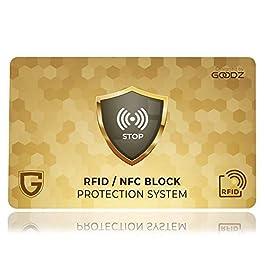 Carta Di Blocco Goodz Protezione RFID NFC Per Carta Di Credito Portafoglio Uomo E Donna Regalo Rfid Blocking Protection Per Porta Carte Di Credito Bancomat E Documenti Proteggi Portafoglio.