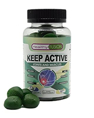 KEEP ACTIVE – Powerful Microencapsulated Turmeric with Collagen, Magnesium, Chondroitin, MSM and Vitamin C – Forget Joint and Muscle Pain – Strong and Healthy Joints and Muscles – 50 Fast Absorption Gummies