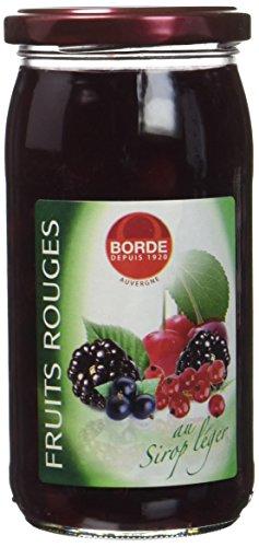 Borde Fruits Rouges au Sirop Léger Bocal 37 cl -125 g - Lot de 6