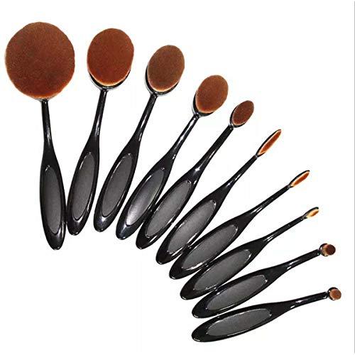 qian Oval Make-up Pinsel Set,10 Stück Professionelle Foundation Concealer Verblender Pinsel...