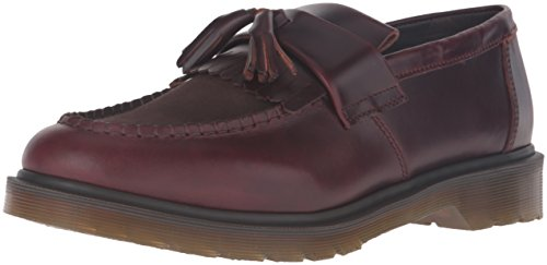 Dr.Martens Mens Adrian Tassel Leather Shoes Marron