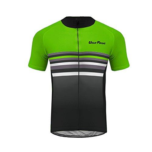 Uglyfrog Wear Performer Jersey Funktions Fahrradtrikot Kurzarm Radtrikot Full Zip Atmungsaktiv mit Reflektoren Rennrad Trikot Herren