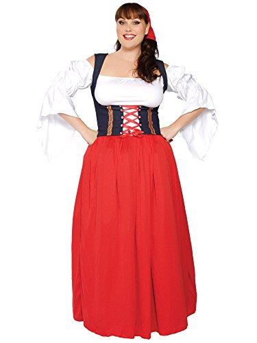 Sexy Swiss Miss Bier Mädchen Kostüm-Plus