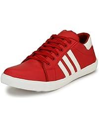 FOX HUNT Men's Jassina Red Casual Sneaker Shoes, Casual Sneaker Shoes For Men's