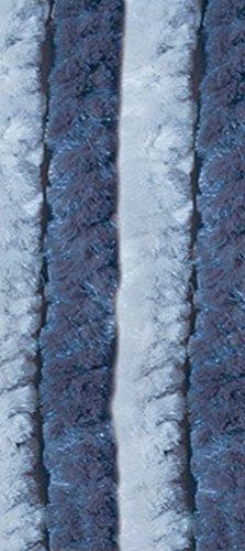 VERDELOOK Tenda Ciniglia da Sole antimosche Dim. 100X220, Azzurro/Blu. Num. di Fili: 24