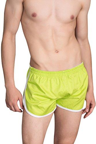 Dolamen Underwear Boxer Uomo Cotone, Uomo Boxershort Trunk Briefs Pantaloncini Shorts Slip, Perizoma Intimo da uomo Verde