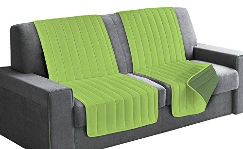 Italian bed linen seduta fascia copridivano, microfibra, verde mela/verde scuro, 190x60x6 cm