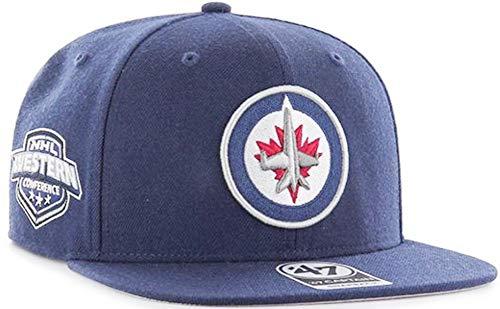 '47 Brand Winnipeg Jets Sure Shot Snapback NHL Cap Navy Winnipeg Jets-logos