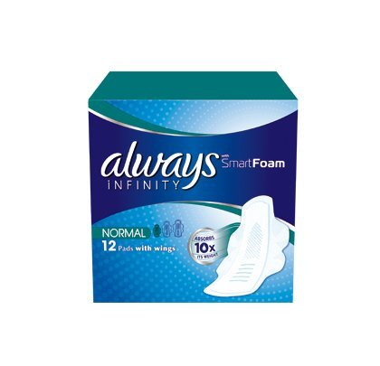 always-infinity-normal-sanitary-towels-with-wings-12-per-pack-case-of-5