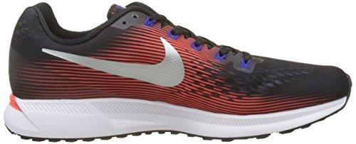 Nike Air Zoom Pegasus 34, Scarpe da Running Uomo Multicolore (Noir/cramoisi Brillant/multicolore Harmonie/argent Métallique)