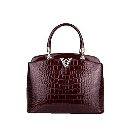 PACK Handtaschen Japan Und Südkorea Mode V Wort Schultertasche Diagonal Paket Weibliche Tasche,C:RoseRed A:WineRed