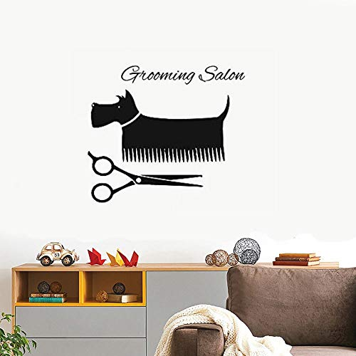 Wandtattoo Kinderzimmer Pet Salon Sticker Dog Decal Muurstickers Posters Wall Art Decals for grooming salon pet salon (Pet-träger Mädchen)
