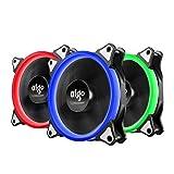 AIGO Ventilateurs de Boitier 3 Pack PC 4 Pin Portable Silent Power Unité Centrale à...