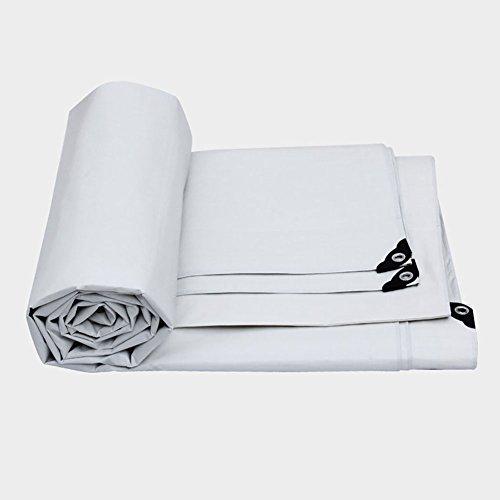 Preisvergleich Produktbild YXX- Große Heavy Duty Plane Regendichte Trap Bodenplane Abdeckungen Shed Tuch LKW Abdeckung Verdicken Wasserdichte Isolierung Zelt Splice Markise Sun Shade-White,  175G / M² (größe : 10 * 12m)
