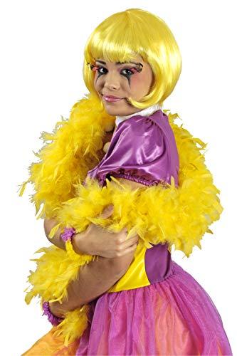 narrenkiste K50776008-A gelb Damen Boa - Kabarett Kostüm Bilder
