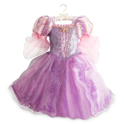 Rapunzel Deluxe Kostüm Kleid für Kinder Größe 7 - 8 Jahre, Disney (Hook Captain Kind Kostüme Deluxe)