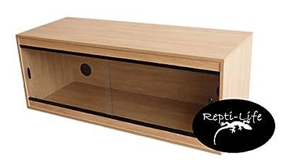 Repti-Life 48x18x18 Inch Vivarium Flatpacked In Oak, 4ft Viv by Repti-Life