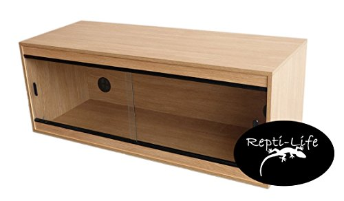 Repti-Life 48x18x18 Inch Vivarium Flatpacked In Oak, 4ft Viv