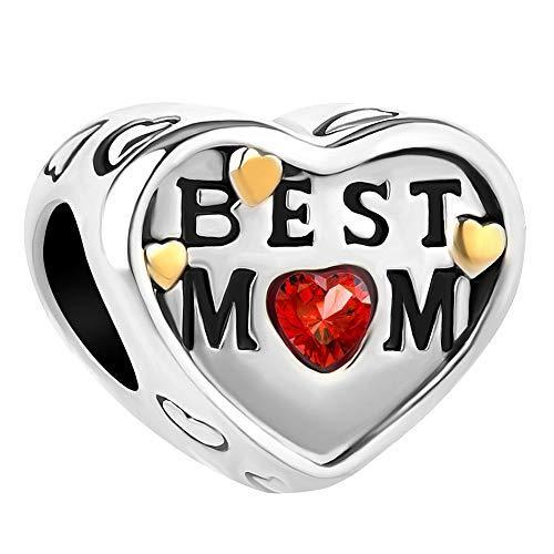 Sug Jasmin Herz Best Mum Charm-Anhänger für Schlangenketten