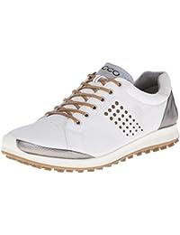 2016 ECCO Biom Hybrid 2 Spikeless Waterproof -Yak Leather Mens Golf Shoes [White/Mineral,EU 41= 6.5-7UK]