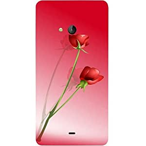 Casotec Red Roses Design Hard Back Case Cover for Microsoft Lumia 540
