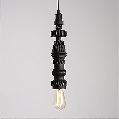 KHSKX Bar Retro corridoio lampadario personalità creative Cafe balcone industriale di resina sotto forma di vento piccolo lampadario 800/100/170*395/335mm , 15-p4337