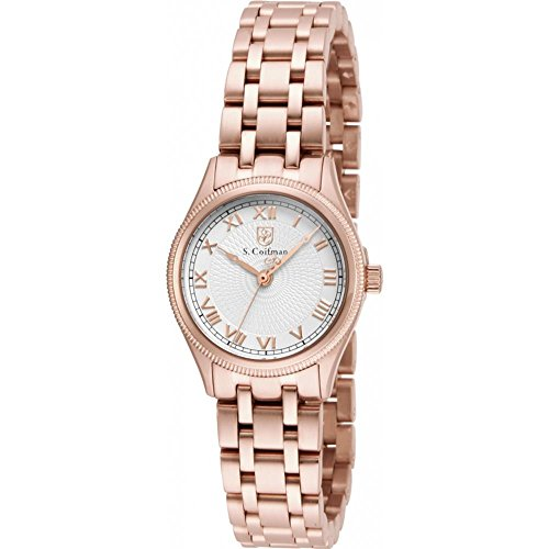 S Coifman SC0341 Ladies Rose Gold Plated Bracelet Watch