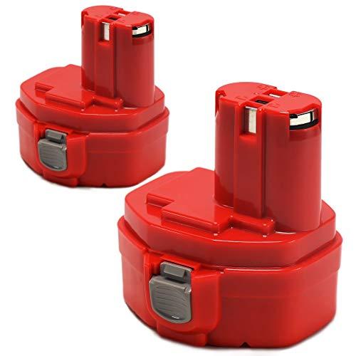 POWERAXIS 2PCS 14.4V 3000mAh NI-MH Visseuse Remplacement Batterie pour MAKITA 1420 1422 1433 1434 1435 1435F 192699-A 193158-3 192600-1 5094DWD 5630DWD