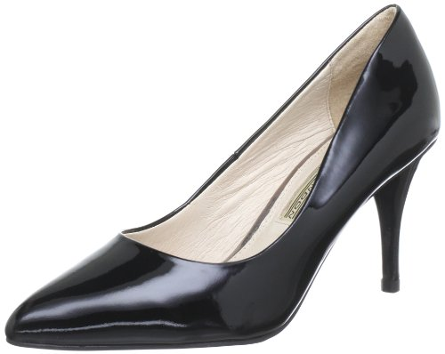 Buffalo London 118-6 PATENT LEATHER 145896, Damen Pumps, Schwarz (BLACK 01), EU 40