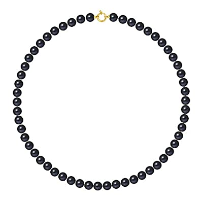 9carat Yellow Gold Freshwater Pearl Multi Row Necklace–Pearls & Colours–50cm–am-9cc 99-50-amlj-bl