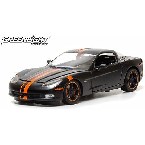 2009 Chevrolet Corvette Z06 Black / Orange 1/24 by Greenlight 50227B by Greenlight