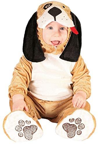 Baby Mädchen Jungen Braun Welpe Tier Halloween Weihnachten Karneval Büchertag Kostüm Kleid Outfit - Braun, 12-24 Months