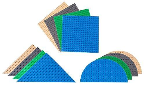 Strictly Briks - Premium-Bauplatten - dreieckig, halbrund, quadratisch - kompatibel mit Allen führenden Marken - 6