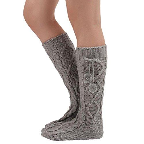 calcetinesreturom-mujeres-de-moda-tejidas-sobre-la-muslo-de-la-rodilla-de-alta-media-gris