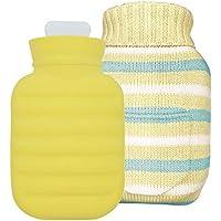 KOMEISHO Hohe Qualität 1000 ML Silikon Heißwasserflasche Heißwasserbeutel für Schmerzen Kalt Mit Strickabdeckung... preisvergleich bei billige-tabletten.eu