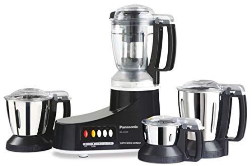 Panasonic MX-AC400 550-Watt Super Mixer Grinder with 4 Jars (Black)