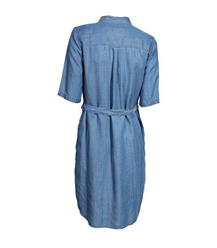 b1d47c4a2ec88e SECOND FEMALE Damen Kleid Sabra aus Lyocell in Jeansblau Blue Denim ...