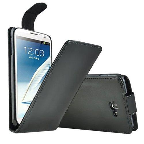 ebestStar - Compatibile Cover Samsung Galaxy Note 2 N7100 Custodia Protezione Pelle PU Risvolto Verticale, Nero [Apparecchio: 151.1 x 80.5 x 9.4mm, 5.5'']