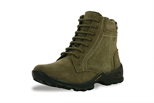 Bacca Bucci Men Olive Genuine Leather Boots 8 Uk