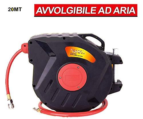 Avvolgitubo automatico aria tubo compressore mt 20+1 autorientrante
