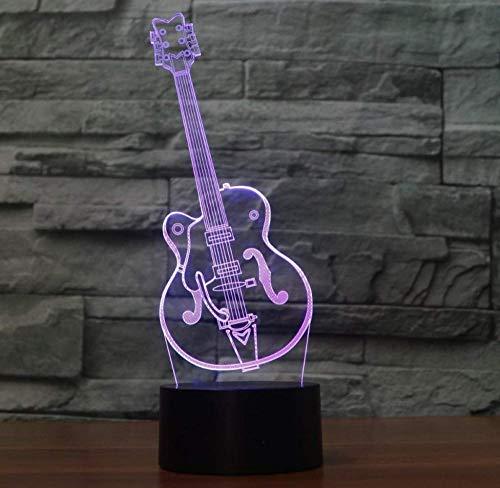 Spezial- & Stimmungsbeleuchtung Tisch Schreibtisch Beleuchtung, Bunte Gitarre Touch 3D Lampe Illusion Led Nachtlicht Usb Atmosphäre Tischlampe
