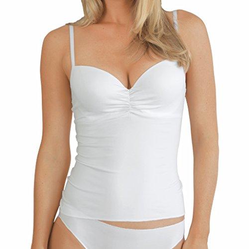 dc48cfa841778a Damen BH-Top - Nina von C. - Secret - Weiß - Größe 85C - BH-Unterhemd mit  Softschale - Formbügel - feminines BH-Hemd