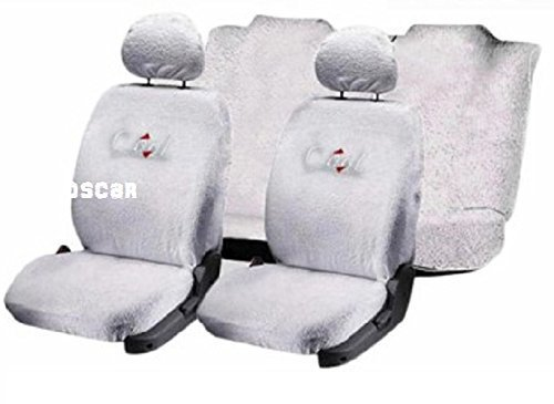 OSCAR-Car Seat Cover Towel Type (White Color) for Tata Nano