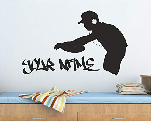 Musik Wandkunst Aufkleber Grafik Aufkleber Graffiti Deck 56x34cm -