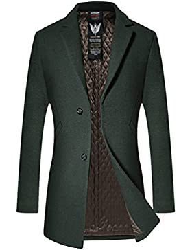 YiLianDa Hombre Otoño Invierno Clásico Chaqueta Manga Larga Abrigo Jacket Outwear