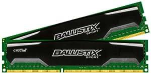 Crucial Ballistix Sport Arbeitsspeicher 16GB Kit (8GBx2) DDR3 1600 MT/s (PC3-12800) UDIMM 240-Pin Memory - BLS2CP8G3D1609DS1S00CEU