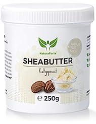 Premium Shea Butter 250g - Rein und Natürlich - Kaltgepresst & Unraffiniert - Spendet Feuchtigkeit - Vegan - Body Butter Karite Männer und Frauen - Trockene Haut - Sheabutter Roh Parfümfrei